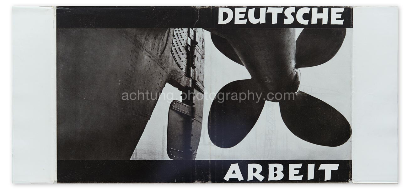 E. O. Hoppé, Deutsche Arbeit, Ullstein, 1930, Dust jacket inside