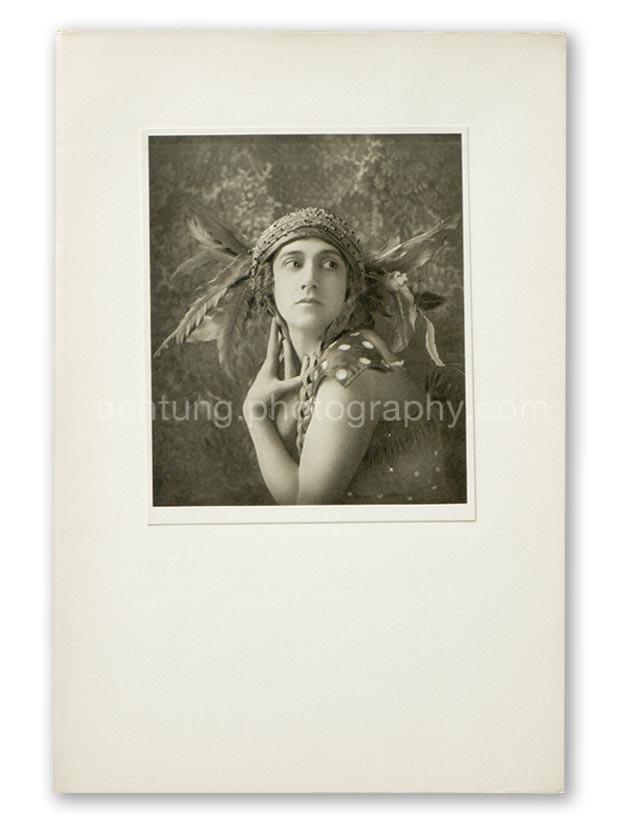 Plate 02, E.O. Hoppe Tamara Karsavina in the Firebird (Madame Thamar Karasavina, L'Oiseau de Feu), 1911, image size 17.2 x 14.6 cm paper size 18.3 x 15.4 cm