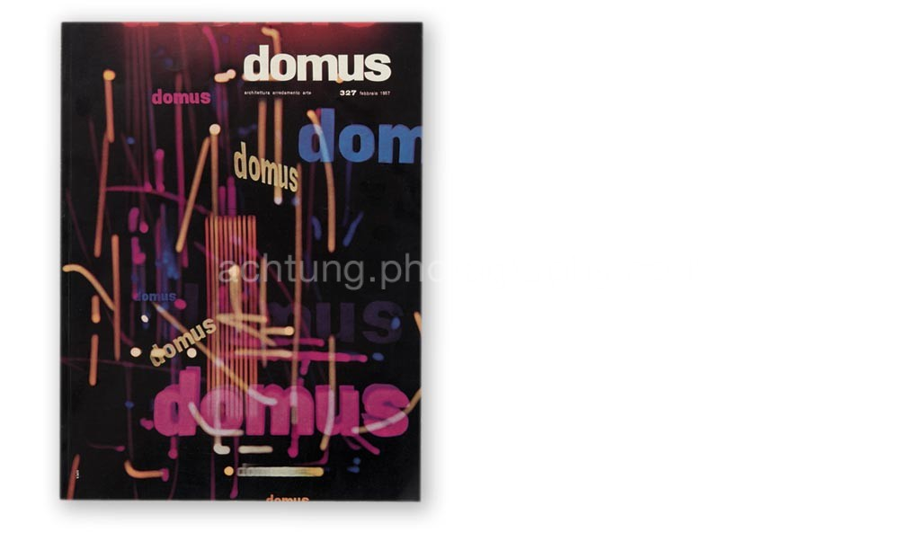 William Klein's cover for domus magazine Italy, February 1957