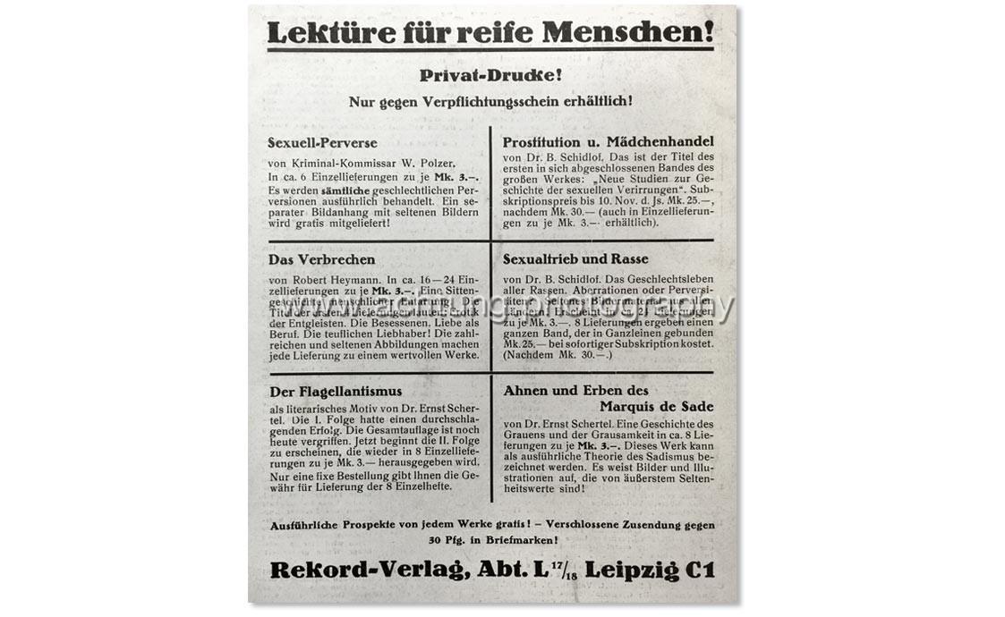Vintage AD in Der Leib Nr. 17