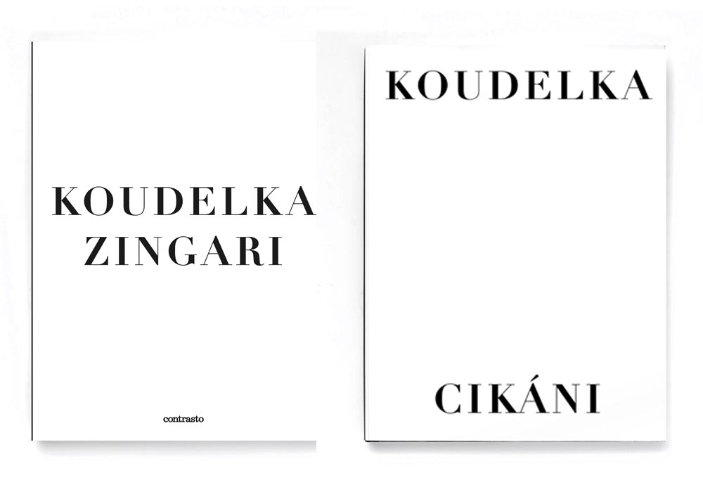 Cikani published by Thorst in 2011 dust jacket front, Zingari published by Contrasto in 2011 dust jacket front