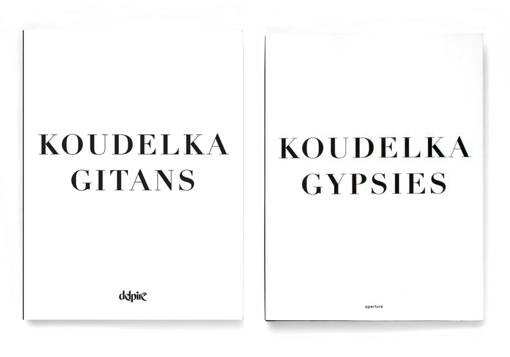 Gitans published by Delpire in 2011 dust jacket front, Gypsies published by Thames & Hudson in 2011 dust jacket front