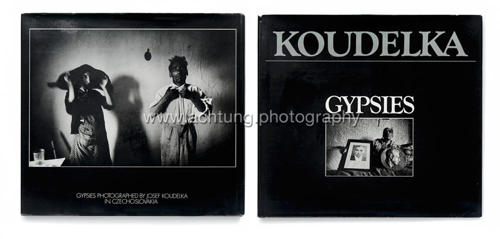 Gypsies published by Aperture 1975 dust jacket back and front