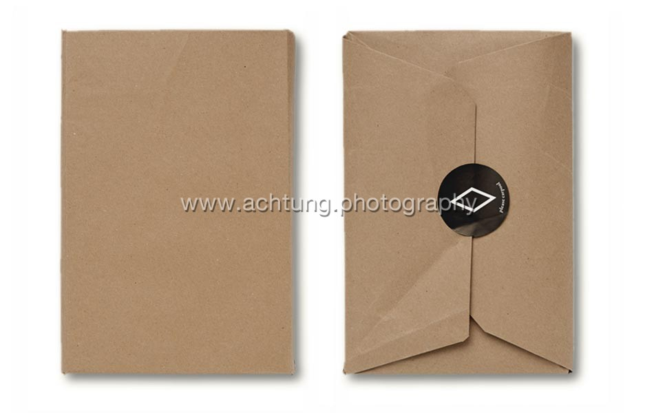 Brown paper packaging back and front