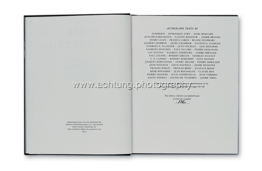 End page with credits and edition number