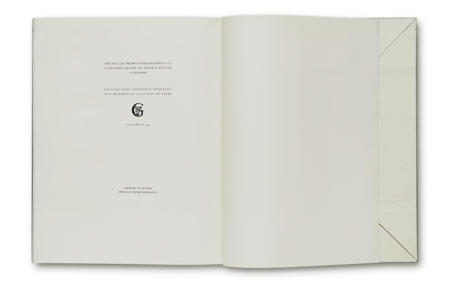 La Guilde du Livre later edition, end page without edition number