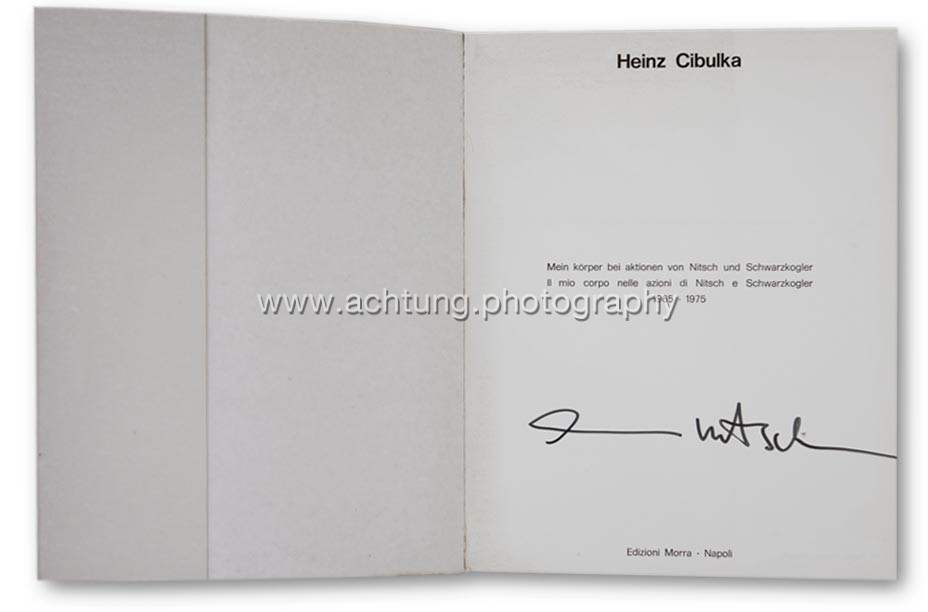Title page with Hermann Nitsch's signature