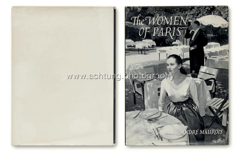Nico Jesse / André Maurois, The Woman of Paris, 1954, Dust jacket back and front