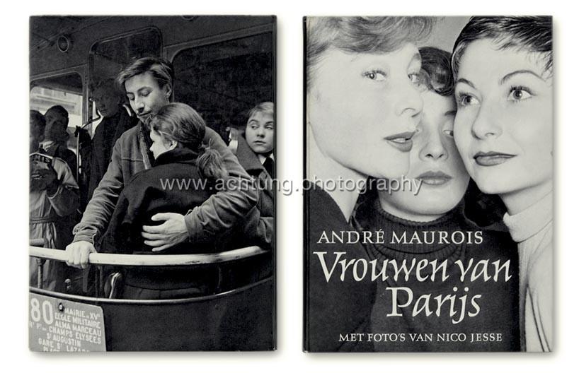 Nico Jesse / André Maurois, Vrouwen van Parijs, 1954, cover back and front