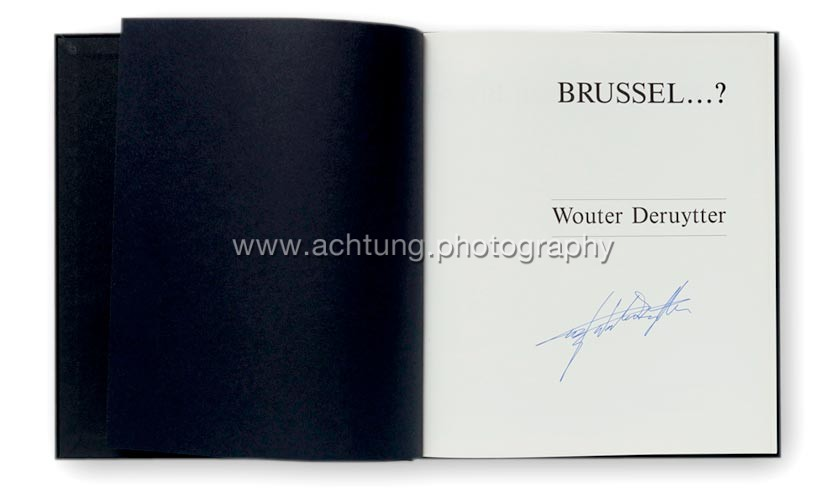 Title pages signed by Wouter Deruytter