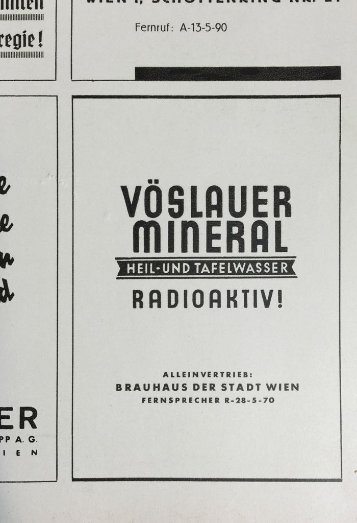 Vöslauer ad from 1938