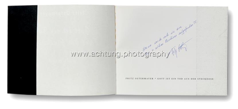 Inscribtion by Fritz Ostermayer