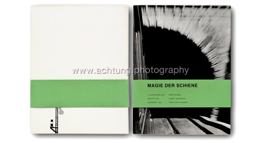 René Groebli, Magie der Schiene, 1949, cover with (later version) obi-band, back and front