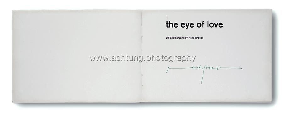 Printers dummy, title page signed by René Groebli