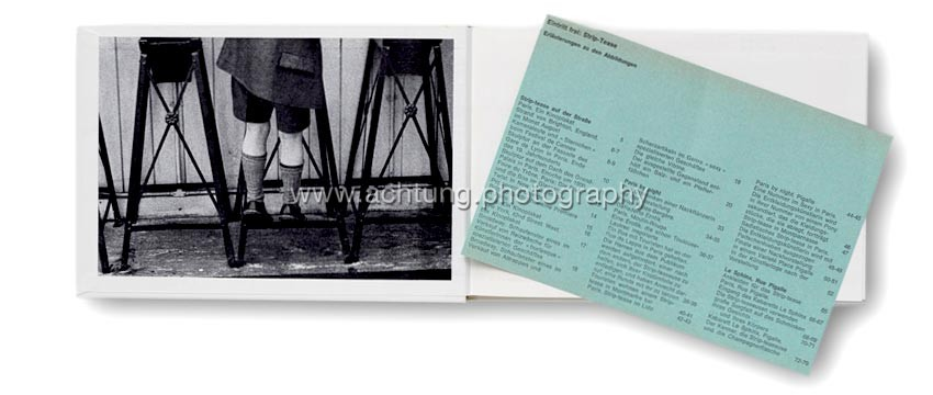 Frank Horvat, Eintritt frei Strip-Tease, front paper and blue paper slip Erläuterungen zu den Abbildungen