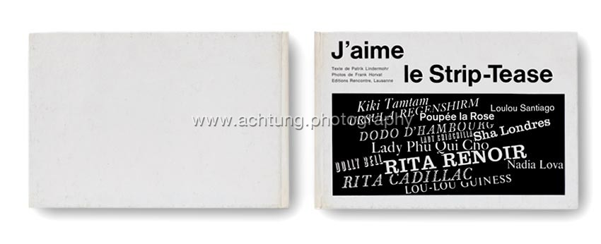 J'aime le Strip-Tease, Editions Rencontre, cover back and front