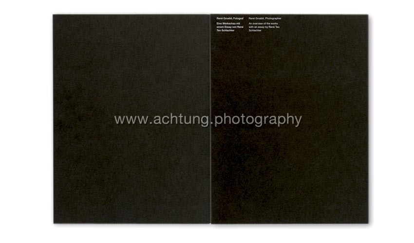René Groebli, Magie der Schiene, Boxed facsimile edition, 2009, booklet back and front