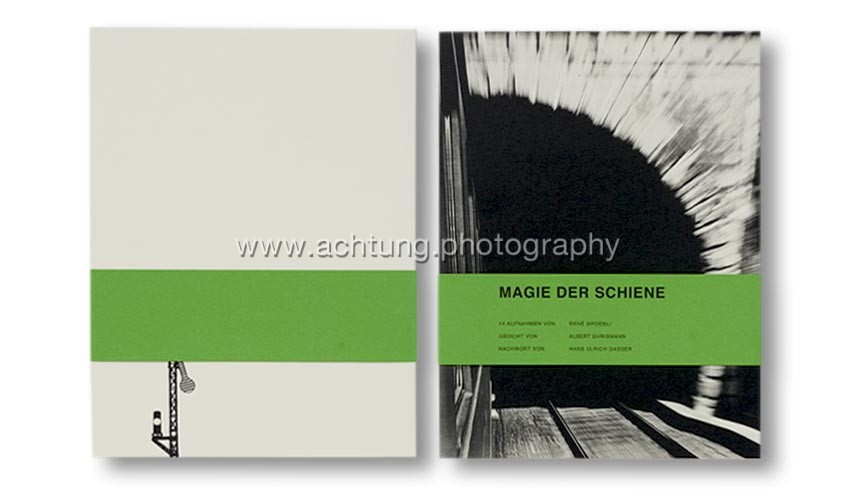 René Groebli, Magie der Schiene, Boxed facsimile edition, 2009, cover with obi-band, back and front