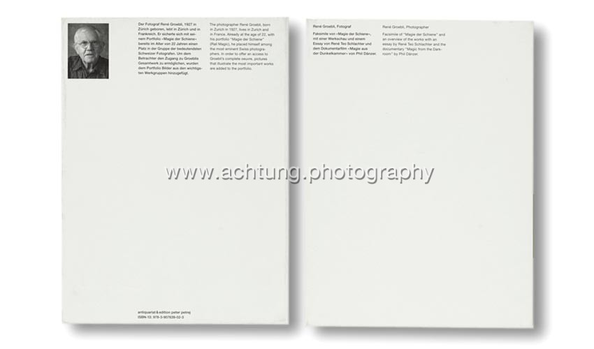 René Groebli, Magie der Schiene, Boxed facsimile edition, 2009, slipcase back and front
