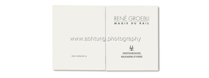 René Groebli, Photoarchives 2, Ides et calendes, 1996, booklet back and front