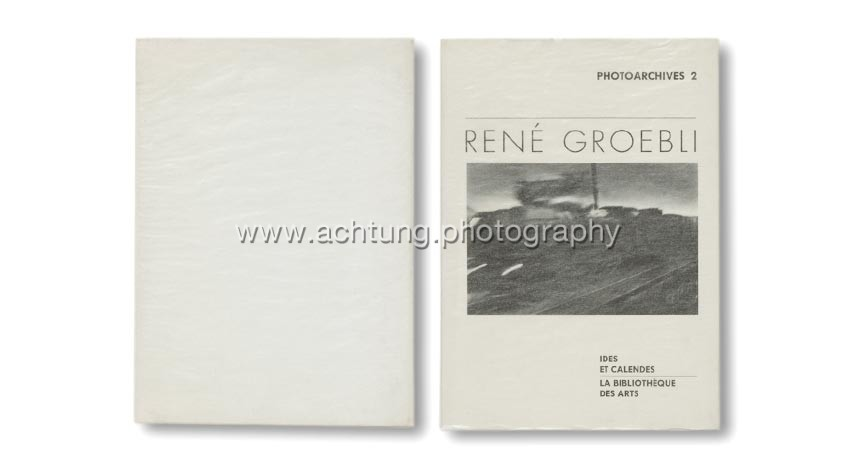 René Groebli, Photoarchives 2, Ides et calendes, 1996, cover with glassine jacket back and front