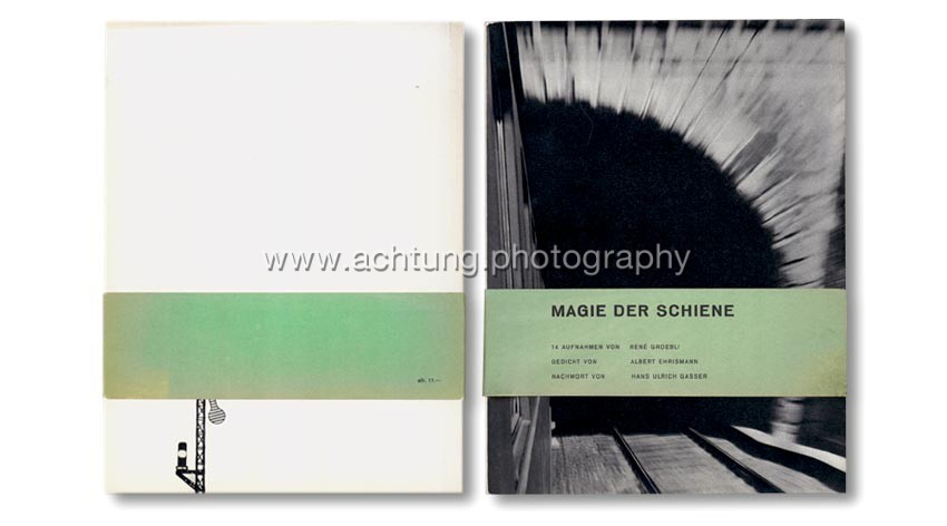 René Groebli, Magie der Schiene, 1949, cover with original obi-band, back and front