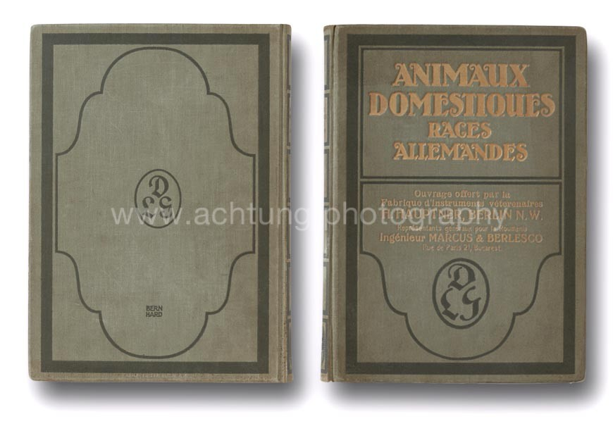 Animaux Domestiques Races Allemandes Association copy for Romania, cover back and front
