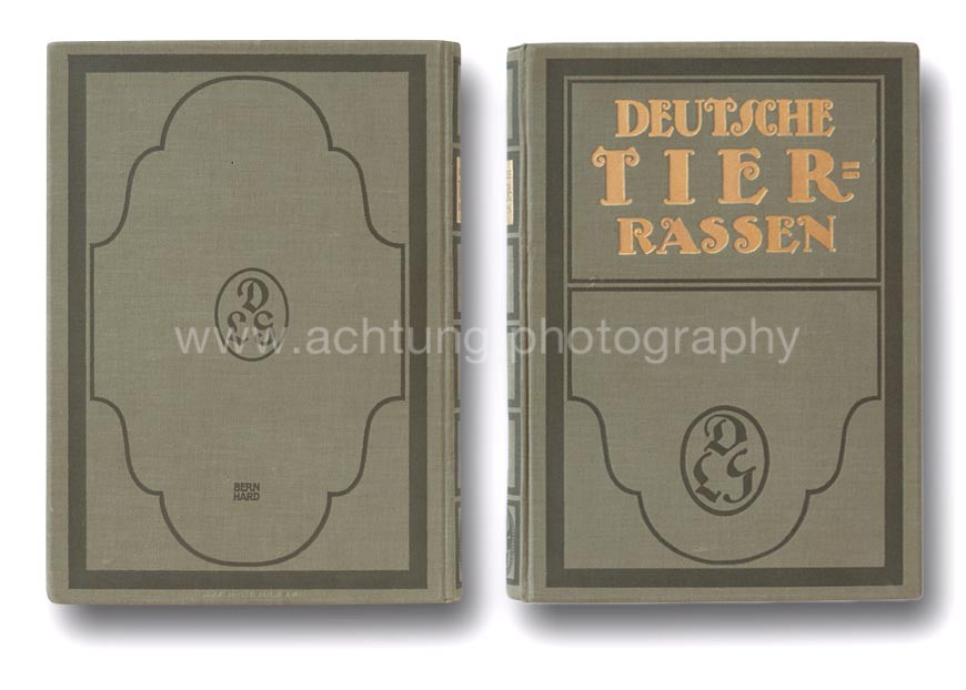 Deutsche Tierrassen back and front cover