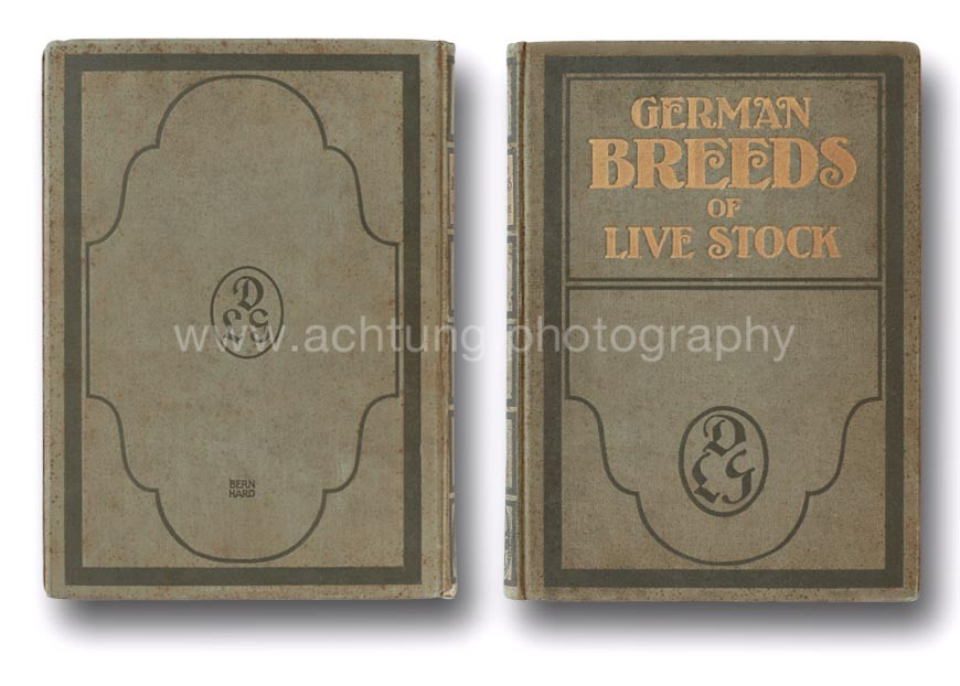 German Breeds of Live Stock, cover back and front