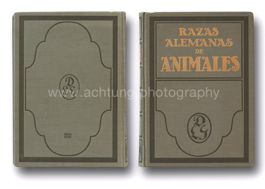 Spanish language edition, Razas alemanas de Animales, cover back and front