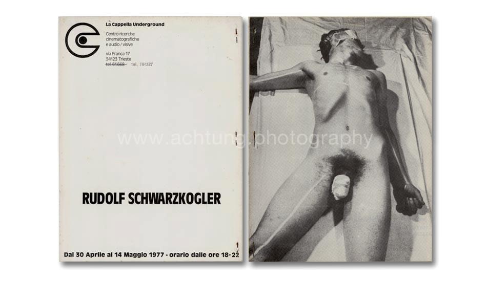 Rudolf Schwarzkogler, La Capella Underground Trieste, 1977, cover back and front